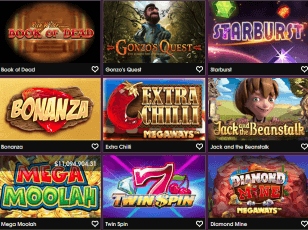 21Prive Casino offer more than 300 titles from different game varieties