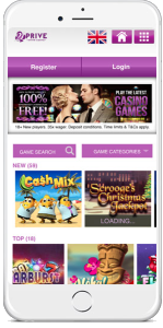 21Prive Casino mobile platform contains more than 80 casino games