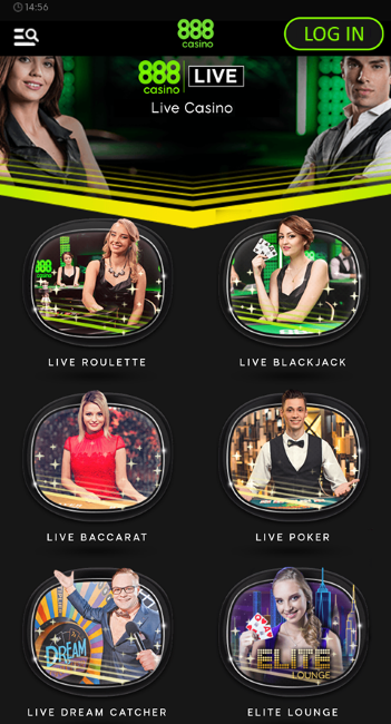 888 Casino Live Dealer Games
