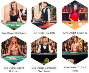 Captain Cooks live casino library include the most played live dealer games