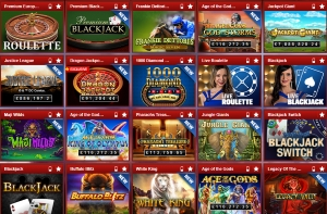 coral - list with casino games