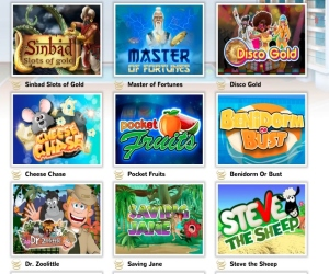 Pocket Win has a wide range of casino games